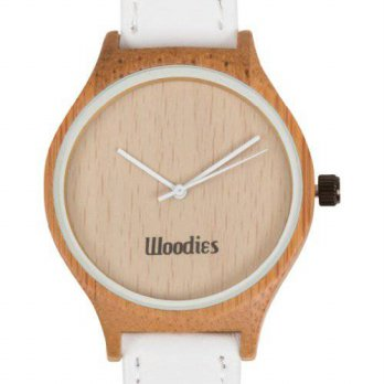 [macyskorea] Woodies WOODIES White Bamboo Wood Watch/15780348