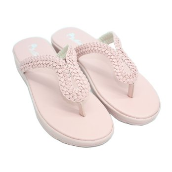 Dr. Kevin Sendal Wanita Flat Women Sandals 571-013 - (2 Color Option) Cream Pink