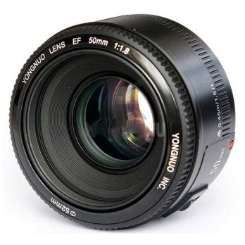 YONGNUO 50mm F/1.8 Lens Large Aperture AF MF - Black