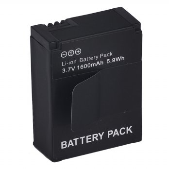 Battery Replacement 1600mAh for GoPro HD Hero 3/3+ - AHDBT-301 - Black