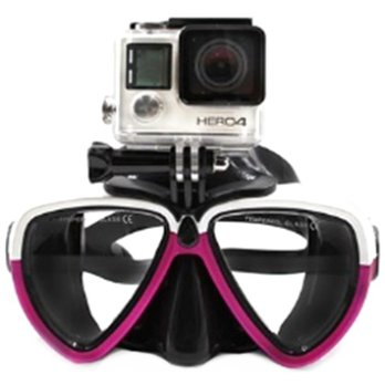 Telesin Kacamata Selam Diving Goggles Glass Mask with Detachable Tripod Mount for Xiaomi GoPro SJCAM - GP-DIV-GS2 - Purple