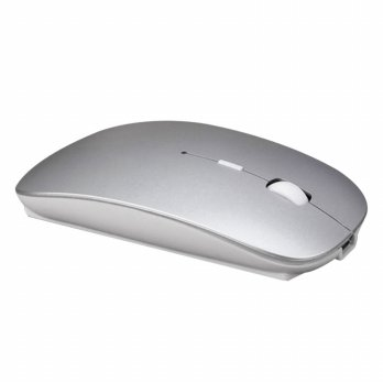 Mouse Wireless 2.4G Rechargeable - Silver