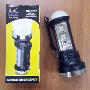 lampu + senter + bohlam led emergency solar 3 in 1 MS-1212 3in1