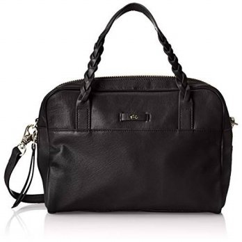 [macyskorea] Foley + Corinna Cable Satchel Top Handle Bag, Black, One Size/14567564