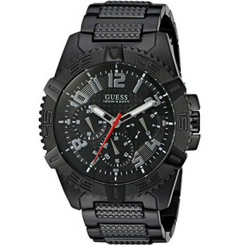 [macyskorea] GUESS Mens U0800G2 Sporty Black Stainless Steel Watch with Multi-function Dia/15810564