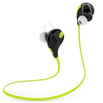 QCY Bluetooth Earphone Olahraga dengan Mic - QY7 (ORIGINAL) - Green