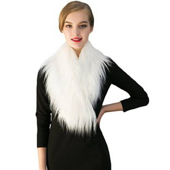 [macyskorea] Spintu Womens Faux Fur Warm Outerwear Shawl Scarf White/16094350