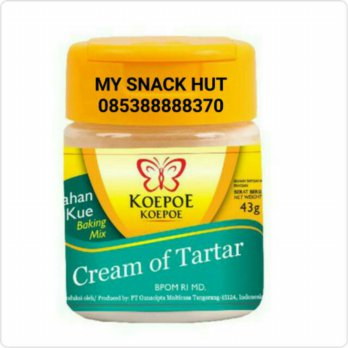 KOEPOE CREAM OF TAR - PENSTABIL PUTIH TELUR - CREAM OF TAR TAR 43GR
