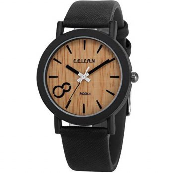 [macyskorea] AMPM24 Mens WAA774 Analog Quartz Wood grain Dial Black Band Wrist Watch/15810136
