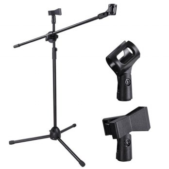 Tripod Holder Mikrofon 2 Klip - NB-07 - Black