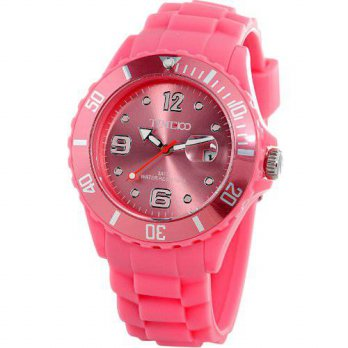 [macyskorea] Time100 Trendy Colorful Rotatable Peach Red Silicone Strap Quartz Watch W4001/15810061
