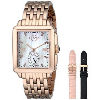 [macyskorea] GV2 by Gevril Womens 9202 Bari Diamond-Accented Rose Gold-Tone Watch with Int/15810123