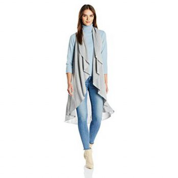 [macyskorea] Calvin Klein Womens Circle Shawl with Lurex, Heathered Mid Grey, One Size/16093860