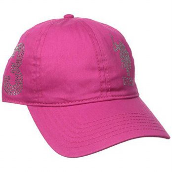 [macyskorea] U.S. Polo Assn. Womens Rhinestone Logo Baseball Hat, Hot Pink, One Size/16111266