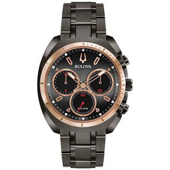 [macyskorea] Bulova CURV Chronograph Gunmetal Stainless Steel Watch 98A158/15810288