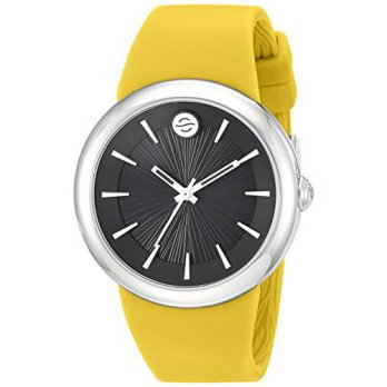 [macyskorea] Philip Stein Quartz Stainless Steel and Silicone Automatic Watch, Color:Yello/15810362