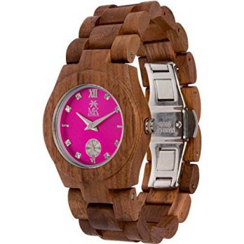 [macyskorea] Wooden Watch For Women Maui Kool Hana Collection Walnut Wood Watch With Fucsi/15810253