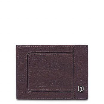 [macyskorea] Piquadro Mens Leather Wallet with Flip Up ID, Dark Brown, One Size/14031877