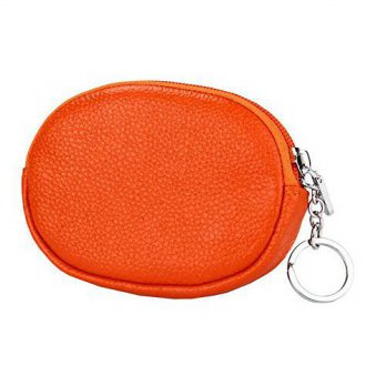 [macyskorea] ETIAL Womens Real Leather Mini Wallet Zip Around Coin Purse with Key Ring Ora/13972542