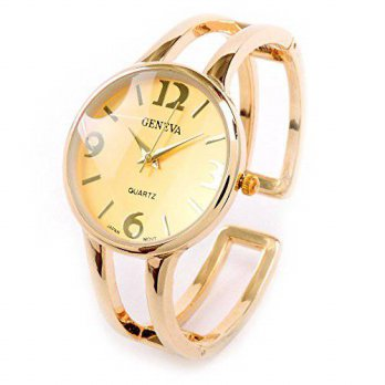 [macyskorea] FTW New Geneva Gold Metal Double Band Fashion Womens Bangle Cuff Watch/15781745