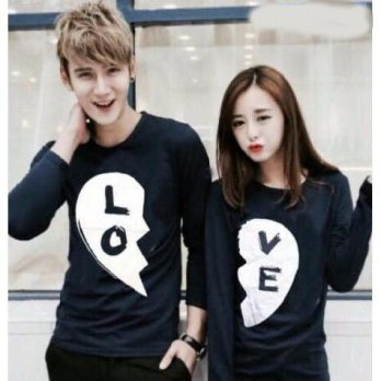 Baju Hoodie Couple Sweater Kaos Pasangan Kopel Kapel Kembar Murah Black Love