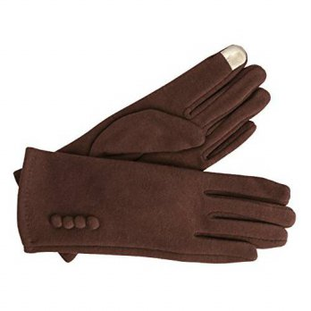 [macyskorea] KMystic Womens Touch Screen Gloves with Button Detail (One Size, Brown)/14679991