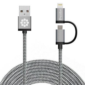 [macyskorea] iPhone 5S Charger, 10Ft Long, F-color 2 in 1 Braided Apple MFI Lightning Cord/16065586