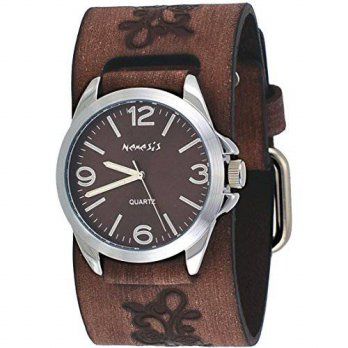 [macyskorea] Nemesis BVF221B Floral Brown Wide Leather Band Brown Dial Analog Watch/15819196