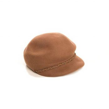 [macyskorea] Nine West Womens Wool Newsboy Hat With Chain Trim, OS (Brown)/14727129