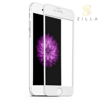 Zilla 3D Full Protect Tempered Glass Curved Edge 9H for iPhone 6 Plus - White