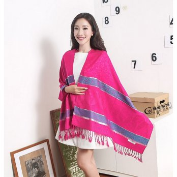 [High Quality] SILVER LINE PASHMINA - ZS308