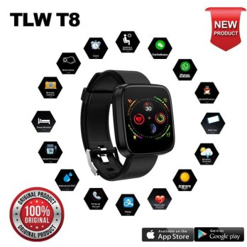 Smartwatch TLW T8 Original 100% Smartband Support Android dan iOs