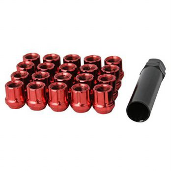 [macyskorea] Uber Technic (20) UberTechnic Red Spline Drive Lug Nuts - 12x1.5 Thread Size /14511009
