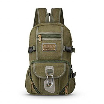 [macyskorea] Hiking Daypack, Tengyue Canvas Backpack - Tactical Bag with Retro Bronze Deco/14125772