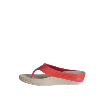 FitFlop Womens Ringer Toe-Post Slippers (Bubblegum)