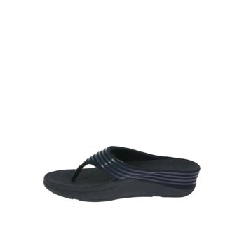 FitFlop Womens Ringer Toe-Post Slippers (Supernavy)