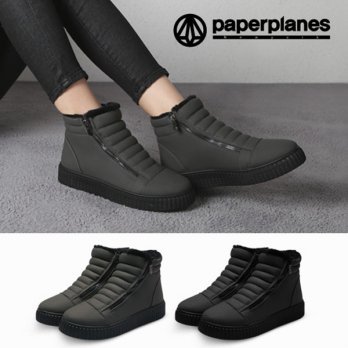 Paperplanes Korean Style Woman Unisex Winter Fur Boots Walker Boots Comfy Casual Shoes Made in Korea MDD_ROEN
