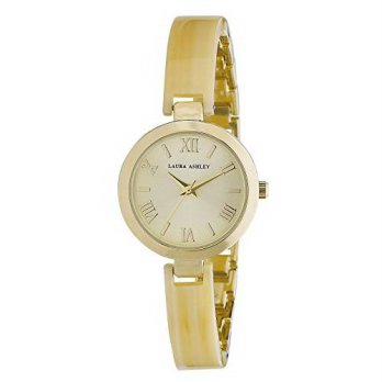 [macyskorea] Laura Ashley Womens LA31002BN Analog Display Japanese Quartz Gold Watch/15812254