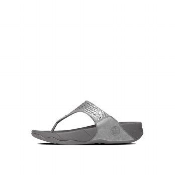 FitFlop Womens Novy Sandals (Pewter)
