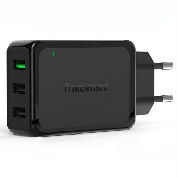 Tronsmart USB Charger 3 Port QC 3.0 - W3PTA - Black
