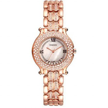 [macyskorea] TIME100 Time100 Fashion Retro Diamonds Shell Dial Steel Strap Quartz Womens W/15812362