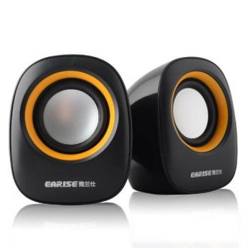 [macyskorea] Gemini Doctor Earise AL-101 3.5mm Mini Computer Speakers, Powered by USB (Bla/16099135