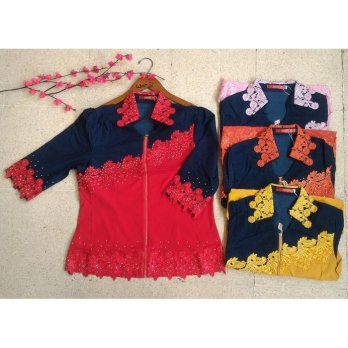 [BLOUSE] BAJU KOREA BIG SIZE BRUKAT IMPORT/ BLOUSE IMLEK PESTA 1330