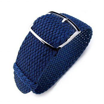 [macyskorea] 20mm MiLTAT Perlon Watch Strap, Braided Nylon Dark Blue, Polished Ladder Lock/15812319