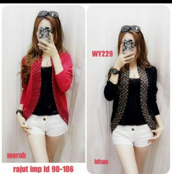 Cardigan Rajut Import List Motif 2100229