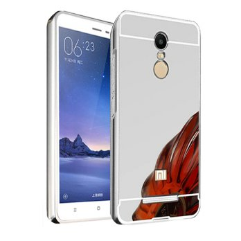 Case Xiaomi Redmi Note 4 Bumper Metal + Back Case Sliding - SILVER