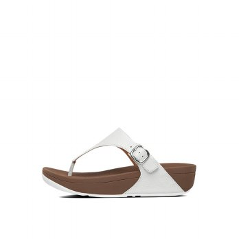 FitFlop Womens The Skinny Sandals (Urban White)