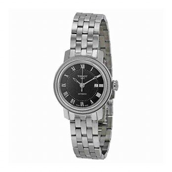 [macyskorea] Tissot Bridgeport Lady Black Dial Stainless Steel Ladies Watch T0970071105300/15818834