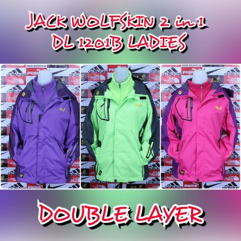JAKET GUNUNG OUTDOOR JACK WOLFSKIN DL-1201B DOUBLELAYER 2 IN 1 LADIES