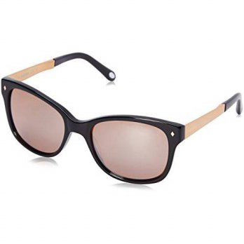 [macyskorea] Fossil Womens FOS2012S Wayfarer Sunglasses, Black & Rose Brown Flash, 55 mm/16002392